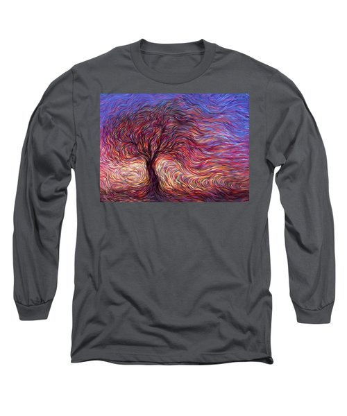 Sunset Tree Long Sleeve T-Shirt by Hans Droog