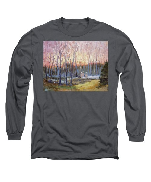 Sunset Trees Long Sleeve T-Shirt by Irek Szelag