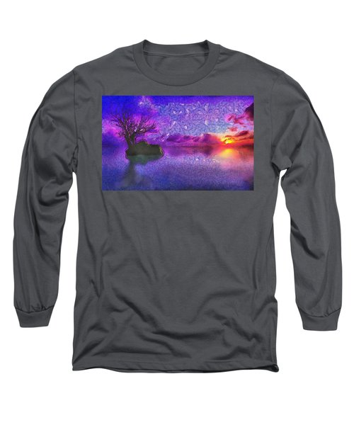 Sunset Tribute To Van Gogh Long Sleeve T-Shirt