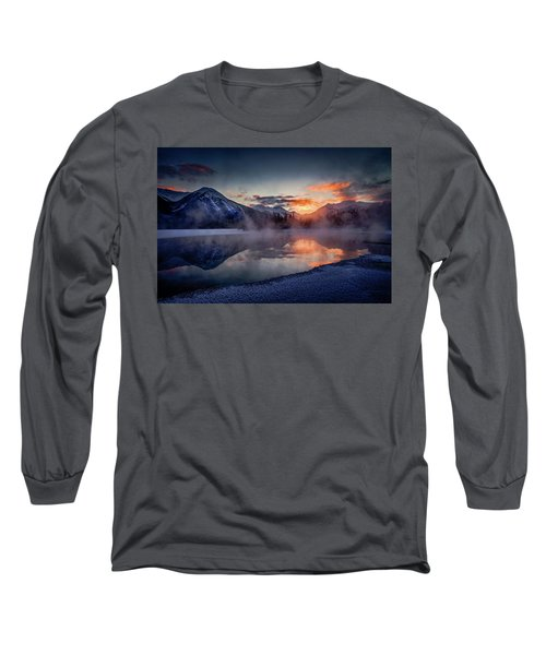 Sunset, Vermilion Lakes Long Sleeve T-Shirt