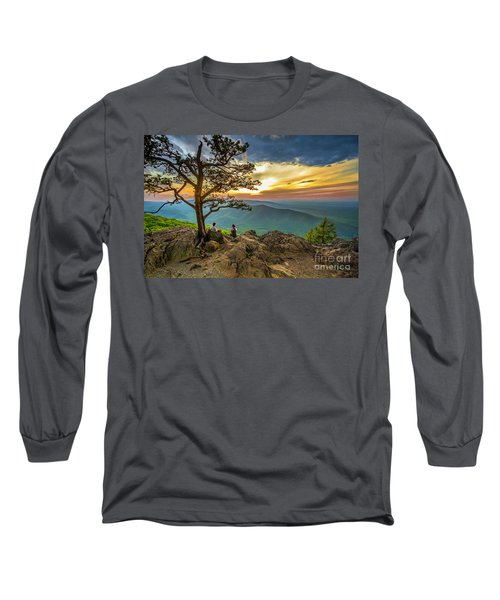 Sunset View At Ravens Roost Long Sleeve T-Shirt