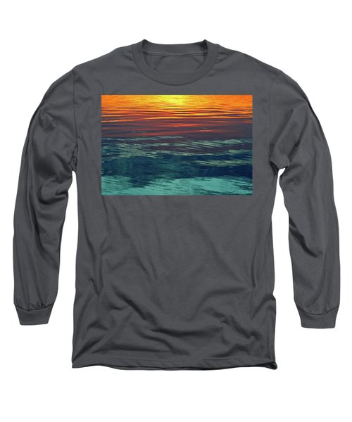 Sunset Water  Long Sleeve T-Shirt by Lyle Crump