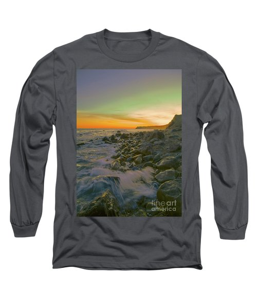 Sunset Waves Long Sleeve T-Shirt by Todd Breitling