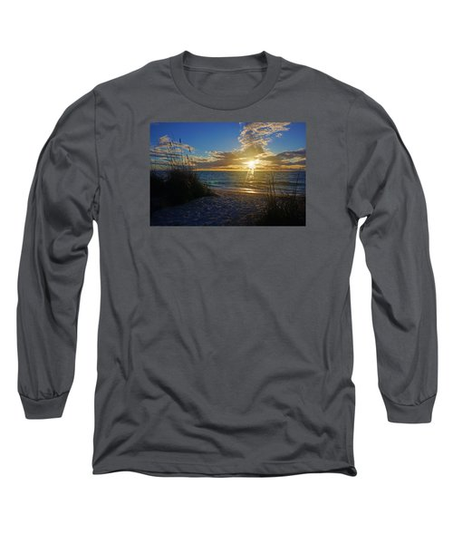 Long Sleeve T-Shirt featuring the photograph Sunset Windsurfer by Robb Stan