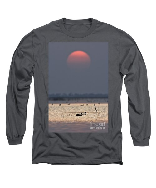 Sunset With Coots Long Sleeve T-Shirt