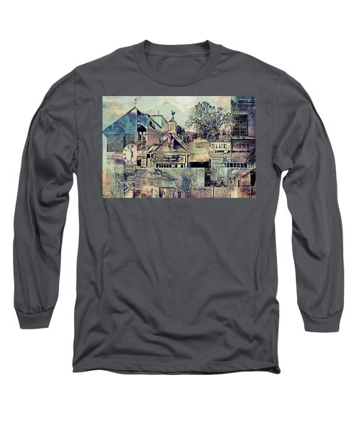 Long Sleeve T-Shirt featuring the digital art Sunsets And Blue Point Collage by Susan Stone