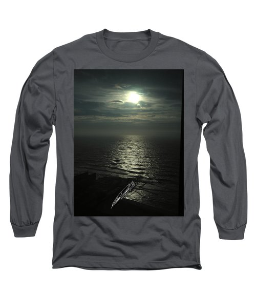 Sunshine Over Central Pier, Atlantic City, Nj Long Sleeve T-Shirt