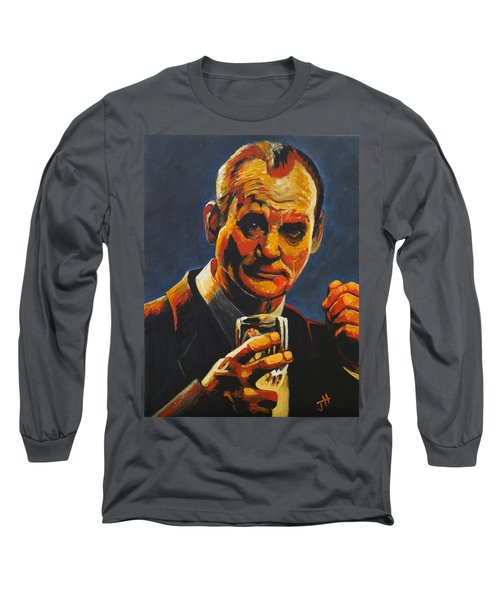 Long Sleeve T-Shirt featuring the painting Suntory Time by Jennifer Hotai