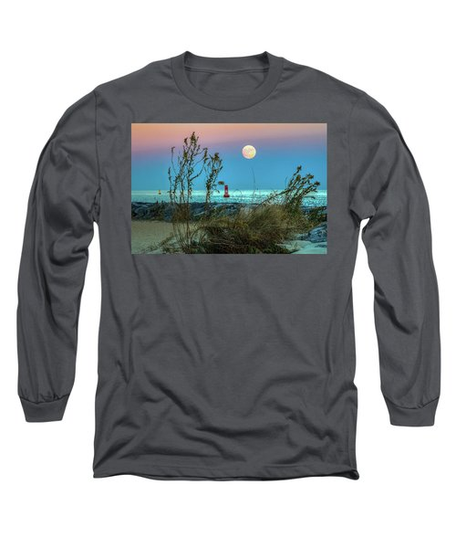 Super Moon 2016 Long Sleeve T-Shirt by Jerry Gammon