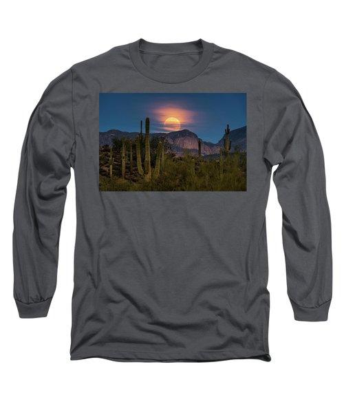 Super Moon 2018 - Wolf Moon  Long Sleeve T-Shirt