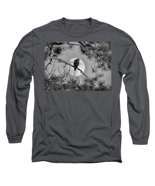 Super Moon Hawk Long Sleeve T-Shirt