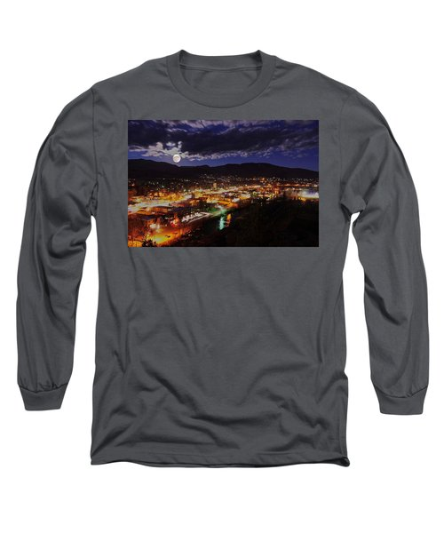Super-moon Over Steamboat Long Sleeve T-Shirt