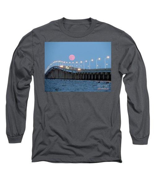 Super Moon  Long Sleeve T-Shirt by Robert Henne