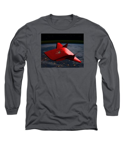 Long Sleeve T-Shirt featuring the digital art Super Sleigh by Walter Chamberlain