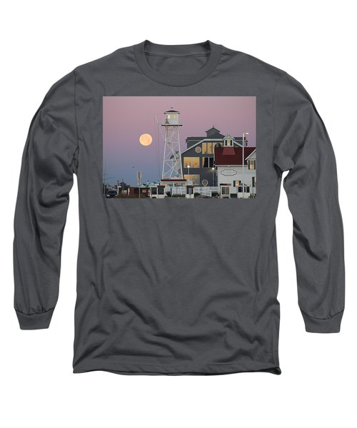 Super Wolf Moon At The Watch Tower Long Sleeve T-Shirt