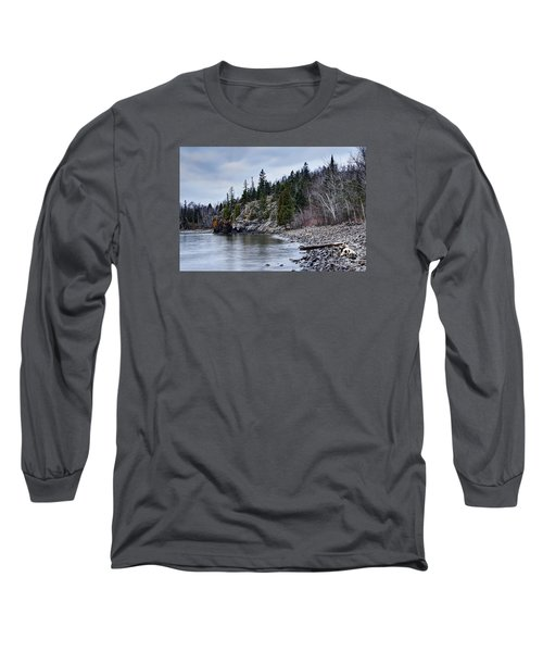 Long Sleeve T-Shirt featuring the photograph Superior Cliffs by Larry Ricker