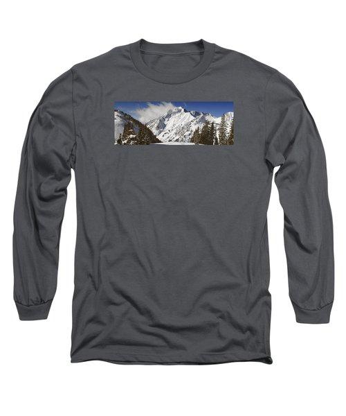 Superior Peak Wasatch Mountains Utah Panorama Long Sleeve T-Shirt by Utah Images
