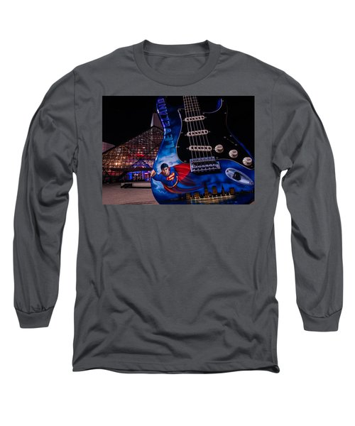 Superman Rocks Long Sleeve T-Shirt