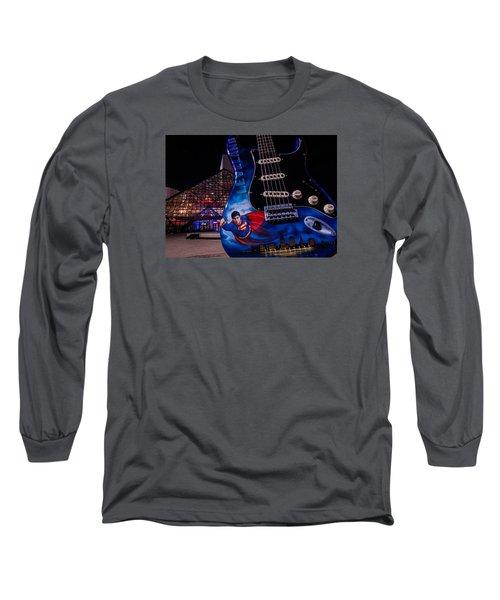 Superman Rocks Long Sleeve T-Shirt
