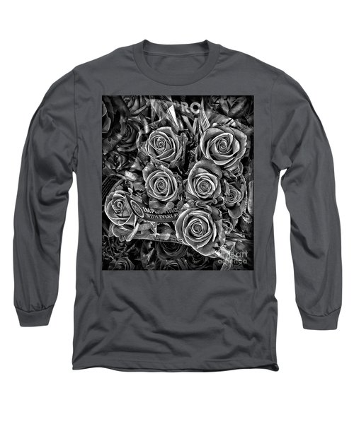 Supermarket Roses Long Sleeve T-Shirt by Walt Foegelle