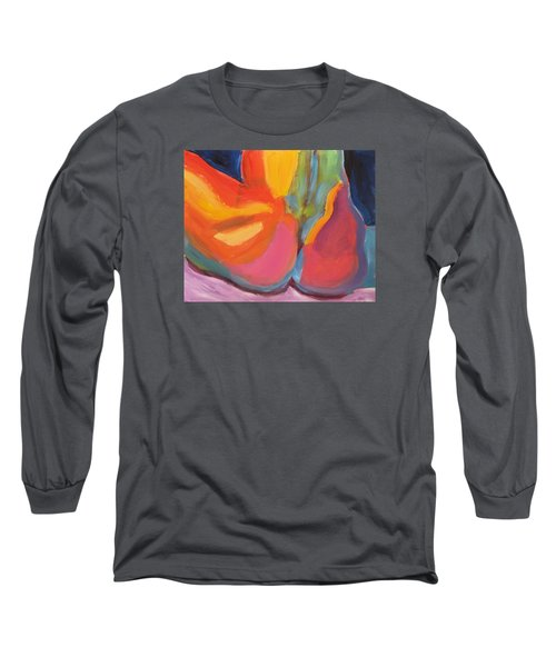 Long Sleeve T-Shirt featuring the painting Supple Buttocks by Shungaboy X