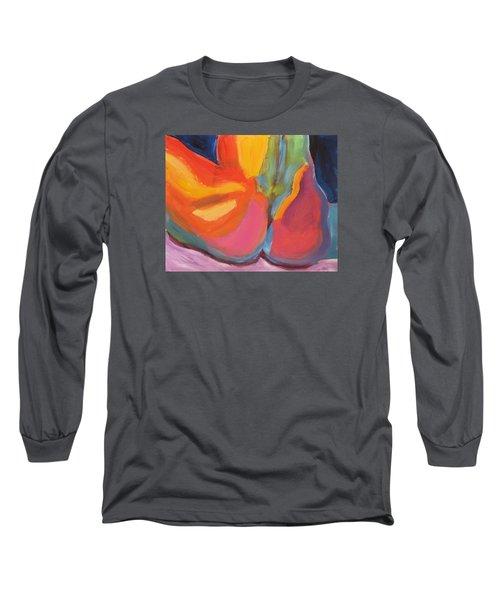 Supple Buttocks Long Sleeve T-Shirt by Shungaboy X