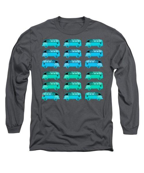 Surfer Vans Pattern Long Sleeve T-Shirt