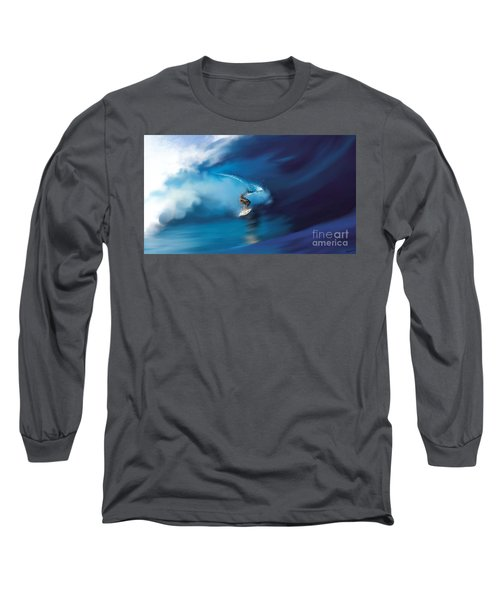 Surfers Playground Long Sleeve T-Shirt by Anthony Fishburne