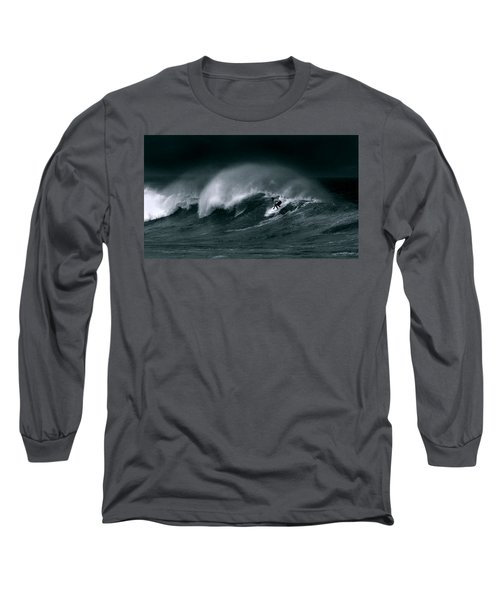 Surfing In Heavy Wind And Tide Long Sleeve T-Shirt