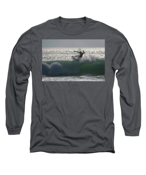 Long Sleeve T-Shirt featuring the photograph Surfing The Light by Thierry Bouriat