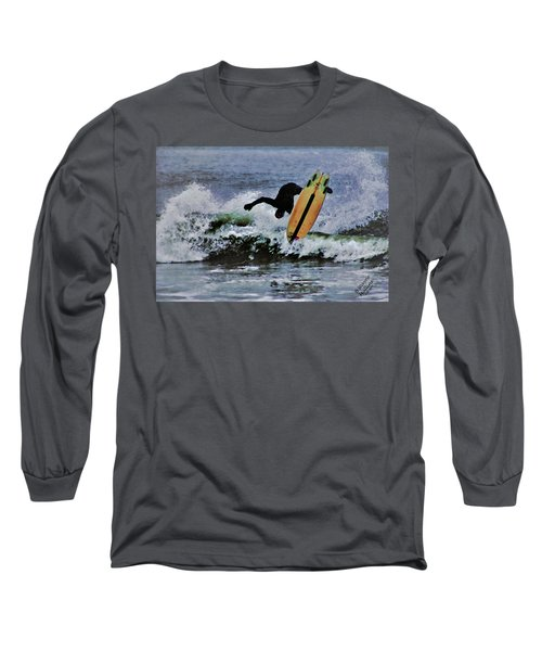 Long Sleeve T-Shirt featuring the photograph Surfs Up by B Wayne Mullins