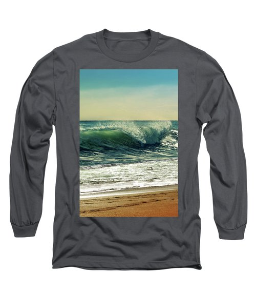Long Sleeve T-Shirt featuring the photograph Surf's Up by Laura Fasulo