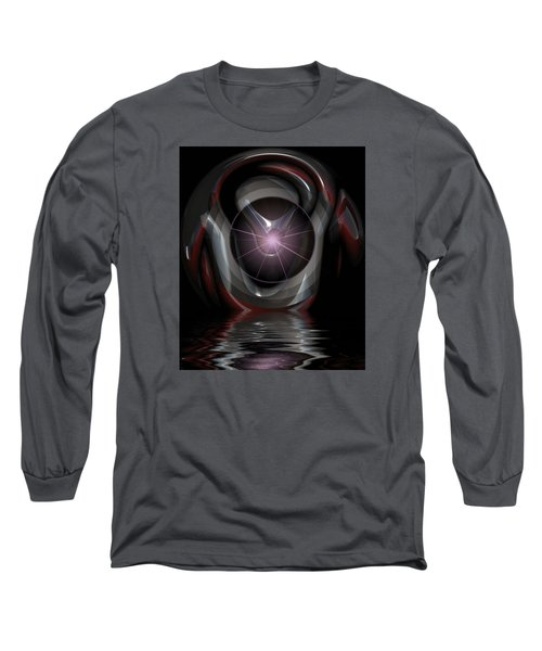 Long Sleeve T-Shirt featuring the digital art Surreal Reflections by Mario Carini