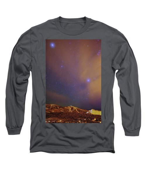 Surreal Ski Area Long Sleeve T-Shirt by Matt Helm