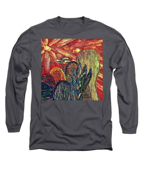 Survival In Desert Long Sleeve T-Shirt by Vadim Levin