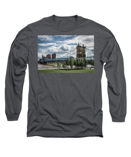 Suspension Bridge Color Long Sleeve T-Shirt by Scott Meyer