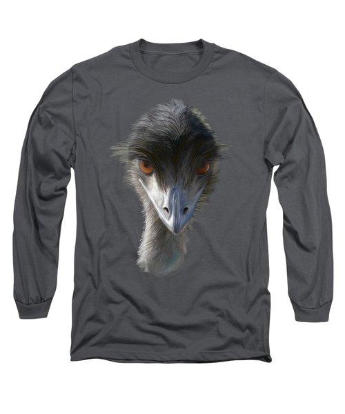 Suspicious Emu Stare Long Sleeve T-Shirt