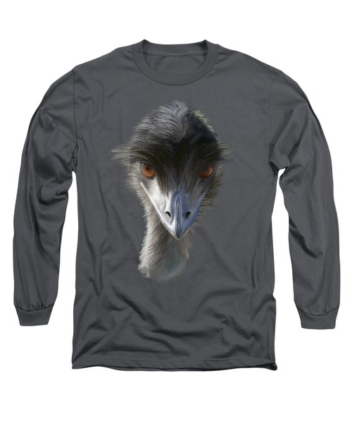 Suspicious Emu Stare Long Sleeve T-Shirt