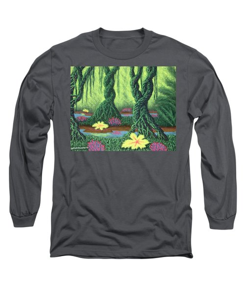 Swamp Things 02, Diptych Panel B Long Sleeve T-Shirt