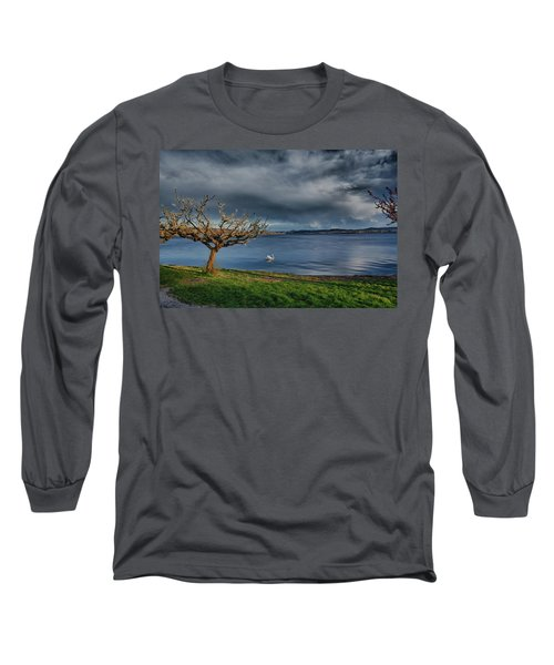 Swan And Tree Long Sleeve T-Shirt