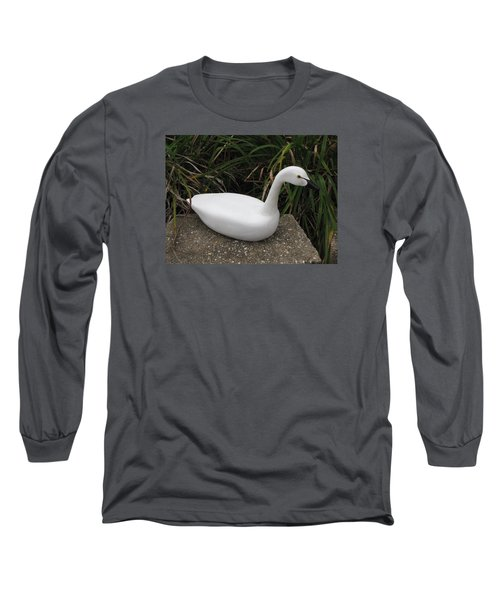 Long Sleeve T-Shirt featuring the sculpture Swan-derful by Kevin F Heuman
