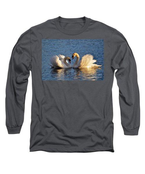 Swan Heart Long Sleeve T-Shirt