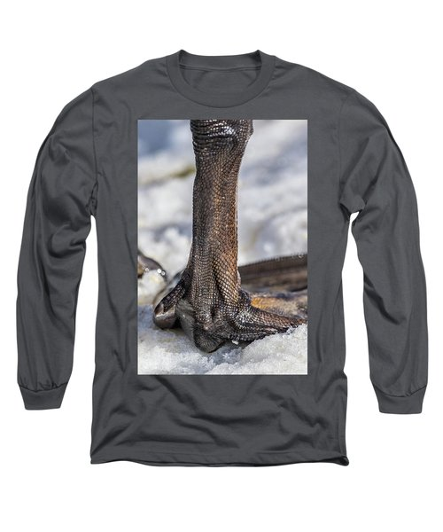 Long Sleeve T-Shirt featuring the photograph Swan Leg by Paul Freidlund