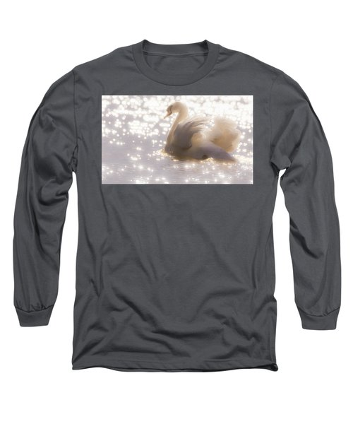 Swan Of The Glittery Early Evening Long Sleeve T-Shirt