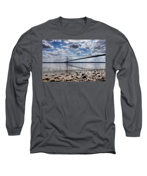 Swans At Humber Bridge Long Sleeve T-Shirt
