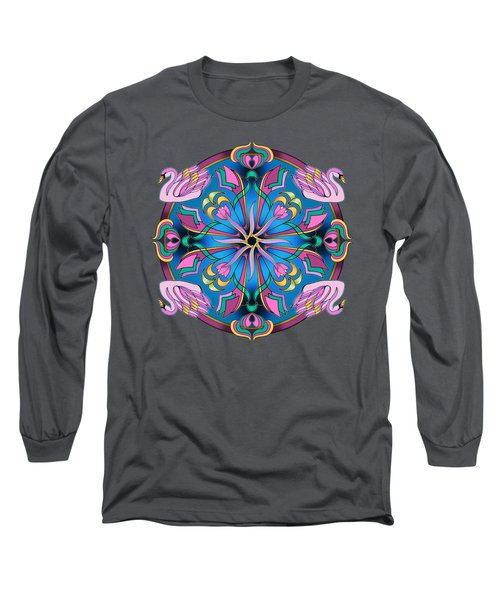 Swans Of Pink Long Sleeve T-Shirt by Mickey Flodin