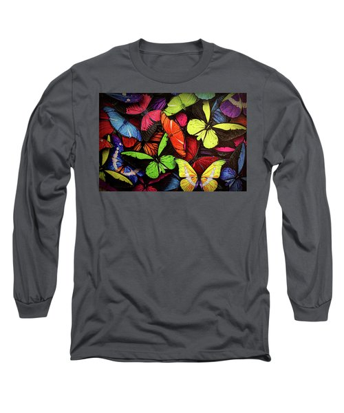 Swarm Of Butterfles  Long Sleeve T-Shirt