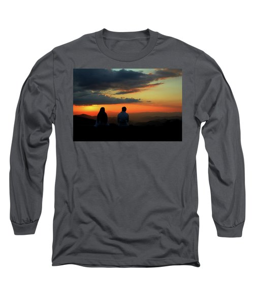 Long Sleeve T-Shirt featuring the photograph Sweetheart Sunset by Jessica Brawley