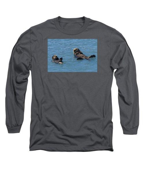 Swimming Lesson Long Sleeve T-Shirt by Harold Piskiel