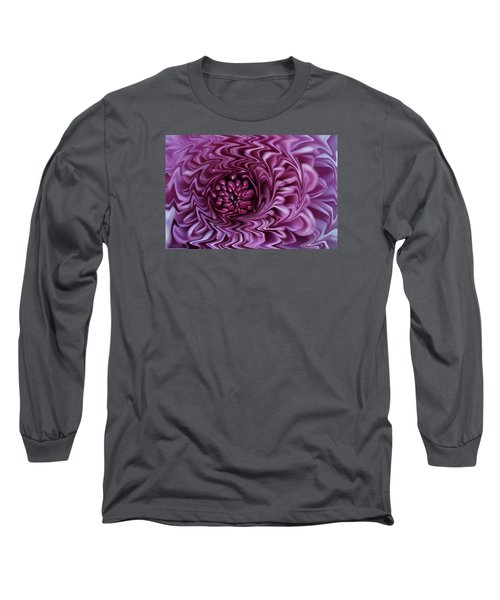Long Sleeve T-Shirt featuring the photograph Purple Mum Abstract by Glenn Gordon